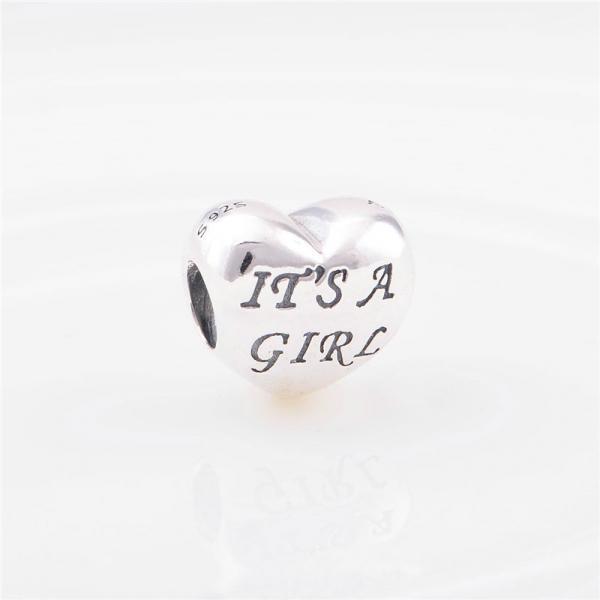 "Шарм бусина Pandora (Пандора) ""It""s a girl"""