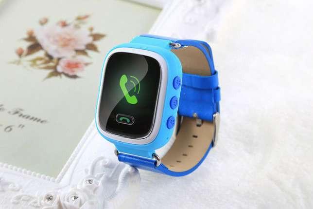 """Детские умные GPS часы Smart Baby Watch Q100 с трекером отслеживания цветной сенсорный экран WiFi  1"""" (синие)"""