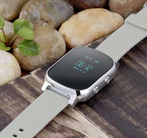 Умные часы с трекером Smart GPS Watch T58 Silver для подростоков, взрослых и пожилых людей