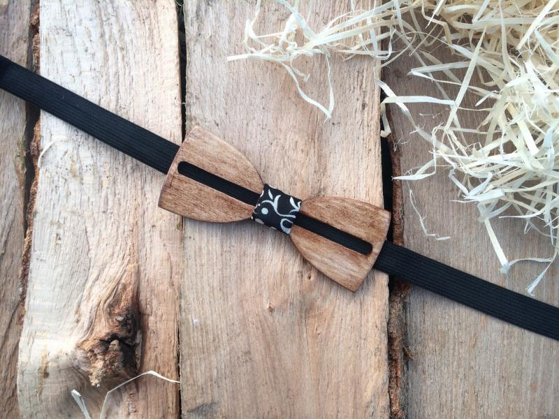 Деревянная бабочка галстук флоуресцентная ручной работы Модель №2