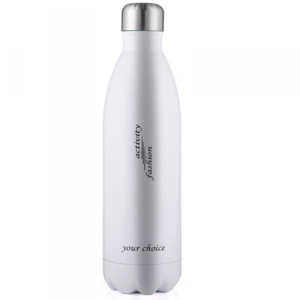 Термос спорт бутылка S'Well Sport глянцевая с надписями 500 мл белый