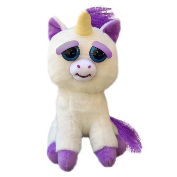 Интерактивная игрушка Feisty Pets Добрые Злые зверюшки Плюшевый Единорог Гленда 20 см (SUN0139)
