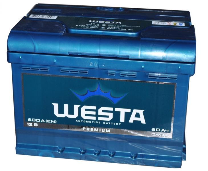 Аккумулятор автомобильный Westa 6CT-60 Premium