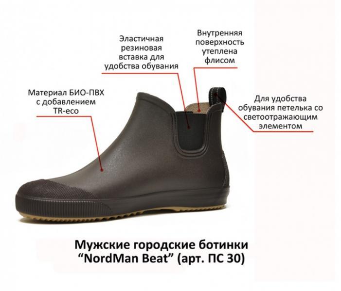 Резиновые мужские ботинки NordMan Beat ПС30