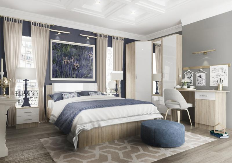 Фото Мебель для спальни Модульная спальня Софи МДФ (ДСВ)