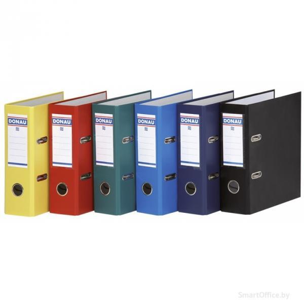 Фото Папки, файлы, планшеты, портфели, сумки (ЦЕНЫ БЕЗ НДС), Папки-регистраторы Папка-регистратор А5, ПВХ ЭКО Donau, корешок 7,5 см.