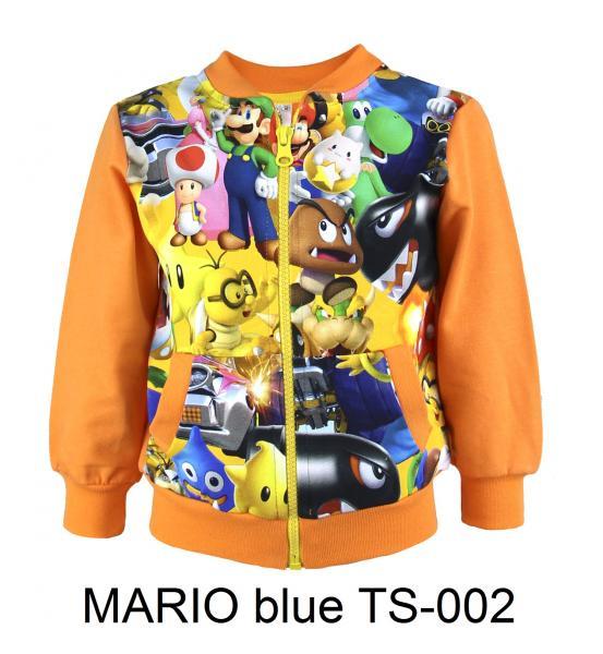 Фото От 2 до 6 лет, ТОЛСТОВКИ MARIO blue TS-002