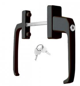Фото Ручки для окон из ПВХ Ручка балконная двухсторонняя с узкой розеткой и ключом.