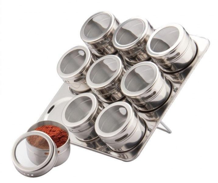 Набор для специй на магнитной доске FRICO 10 пр. FRU-460