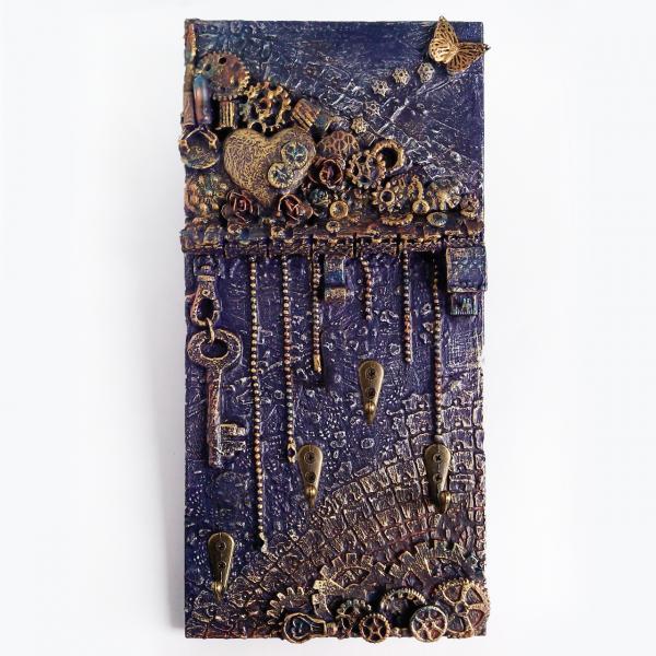 Настенная ключница в стиле лофт Подарки для интерьера прихожей