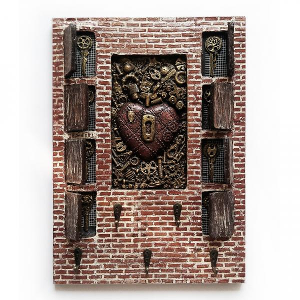 Фото Ключницы Ключница  Предмет интерьера в стиле лофт Оригинальный подарок на день рождения