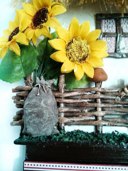 Фото Ключницы Ключница настенная домик Ласкаво просимо Подарок в украинском стиле на день рождения юбилей