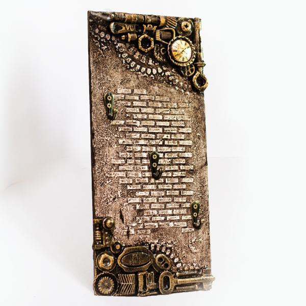 Настенная ключница в стиле Steampunk Подарок на день рождения годовщину