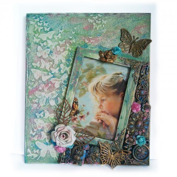 Детская фоторамка для девочки Декор  детской комнаты Авторская ручная работа