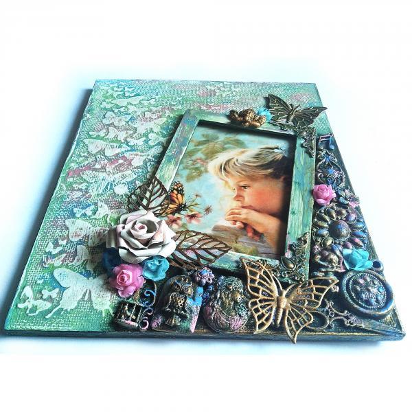 Фото Фоторамки Детская фоторамка для девочки Декор  детской комнаты Авторская ручная работа