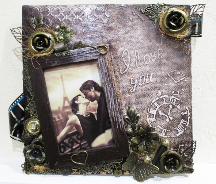 Стильная фоторамка ручной работы Подарок женщине девушке на день рождения