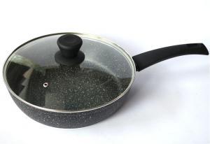 Фото Сковороды и сотейники с антипригарным покрытием Сковорода глубокая с крышкой RINGEL Koriander d 28 см. RG-1107-28