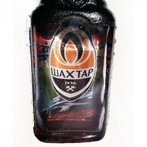 Фото Сувенирные бутылки Декор бутылки Футбольному фанату ФК Шахтер Подарок мужчине на день рождения