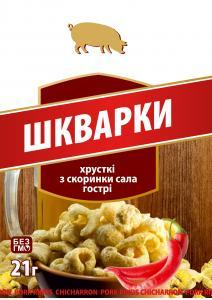 Фото  Шкварки к пиву с острым перцем