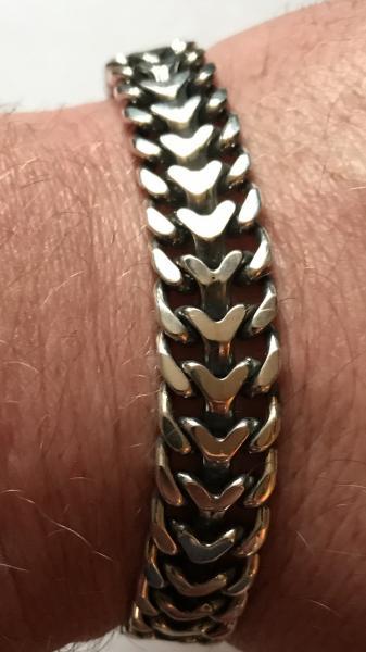 Фото Цепочки и браслеты ручного плетения Двойной обратный панцирь (протектор)