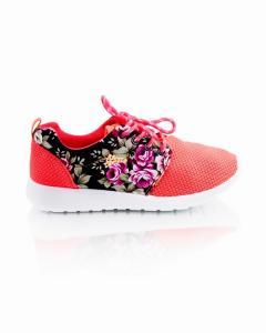 Фото Женщинам, Женская обувь, Женские кроссовки Кроссовки коралловые с цветочным принтом