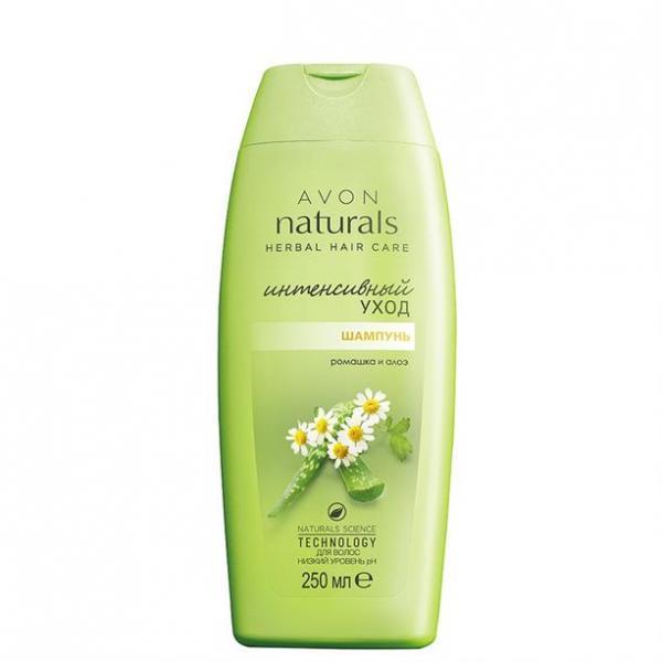 Фото для волос, naturals Шампунь для волос «Интенсивный уход. Ромашка и алоэ» (250 мл)