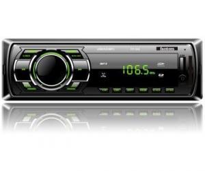 Фото  Автомагнитола FP-302 Black/Green USB/SD ресивер, Fantom