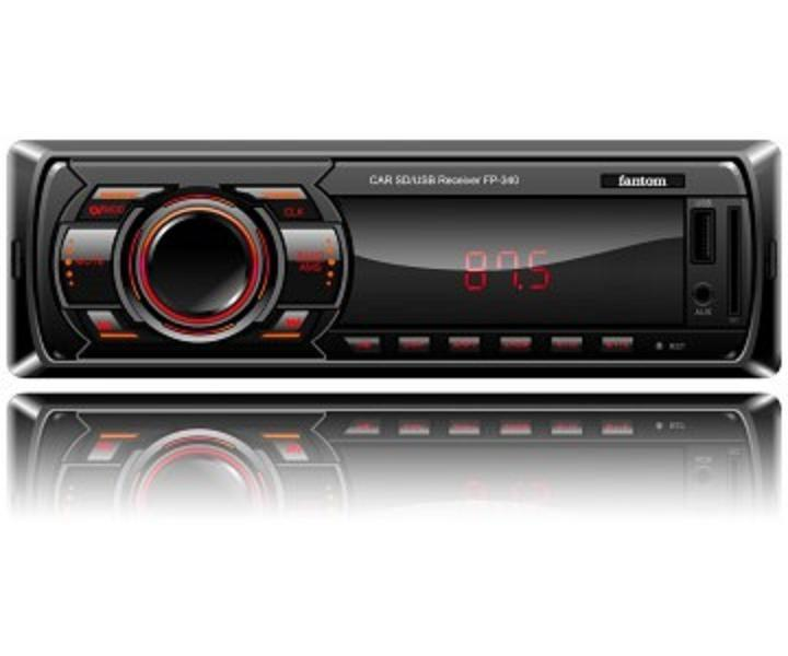Автомагнитола FP-340 Black/Red USB/SD ресивер, FANTOM
