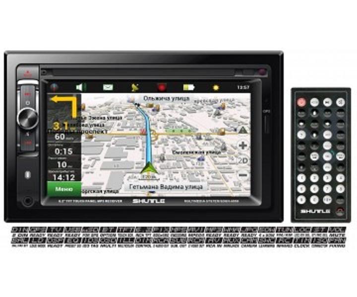 Автомагнитола GPS SDUN-6950 Bl/Multi (Navitel map) Мультимедийная станция, SHUTTLE