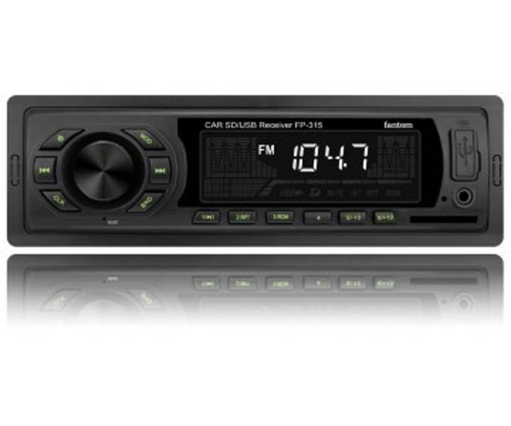 Автомагнитола FP-315 Black/Green USB/SD ресивер, FANTOM