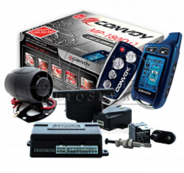 Автосигнализация с диалоговым кодом MP-180D v.2 LCD, Convoy