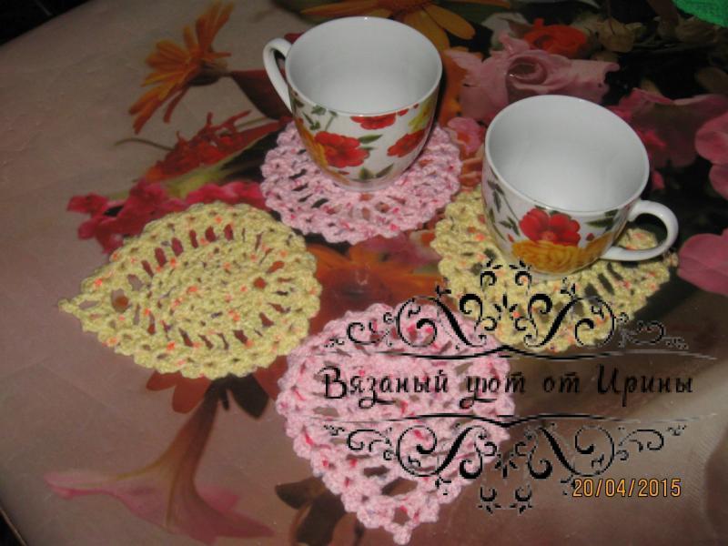 Фото Салфетки и прочие мелочи для уюта в доме Мини салфетки, подставки под чашки/бокалы