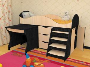 Фото  Кровать детская Тошка(Пирамида)