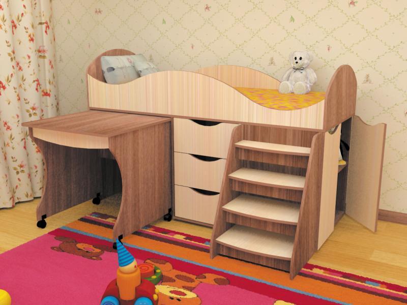 Фото  Пирамида-Кровать детская Тошка