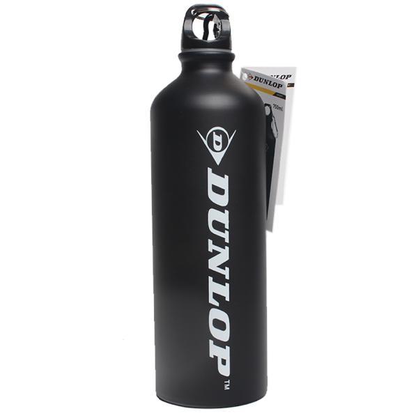 Бутылка для воды алюминивая с карабином, черного цвета, 750 мл