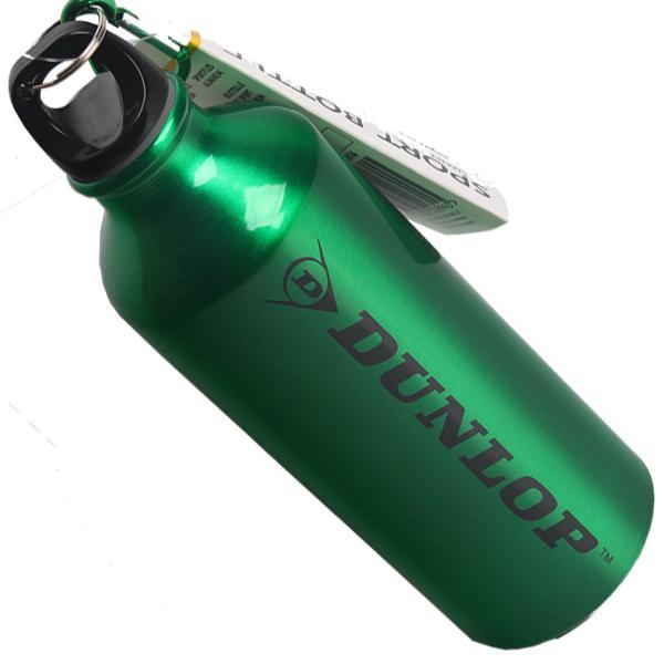 Бутылка для воды алюминивая с карабином, серебряного цвета 500 мл