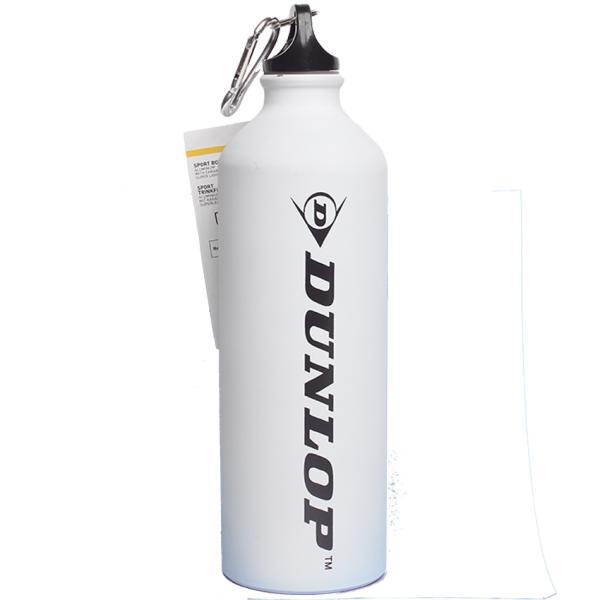 Бутылка для воды алюминивая с карабином, белого цвета, 750 мл