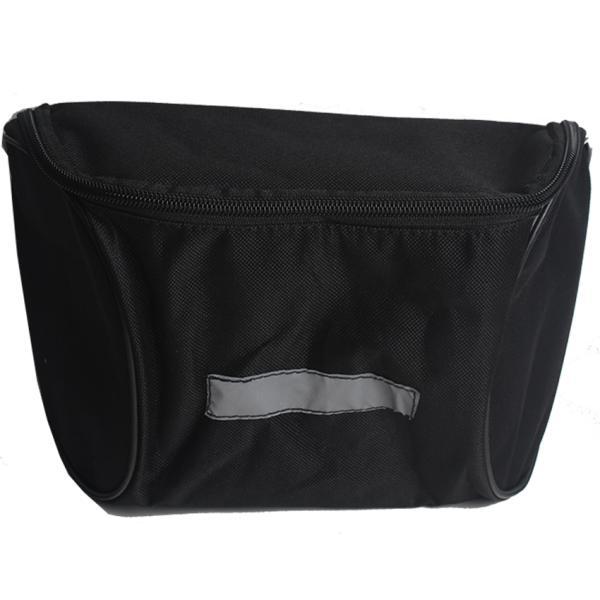 Велосипедная сумка на руль черного цвета