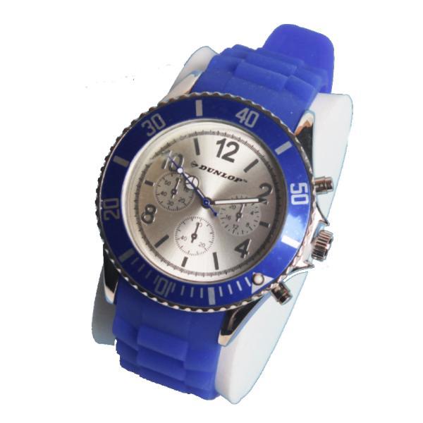 Часы Dunlop на силиконовом браслете с металлическим корпусом циферблата