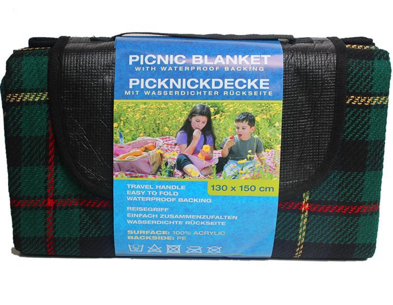 Коврик для пикника водонепромокаемый, 130х150 см