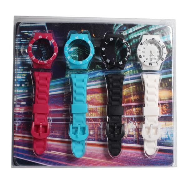Часы со сменными силиконовыми ремешками