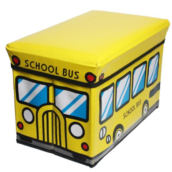 Детский пуфик-ящик для игрушек Happy bus, 40x25x25 см