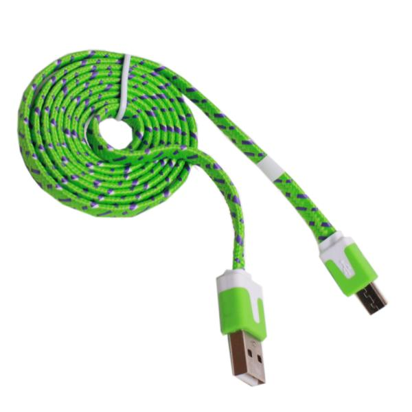 Кабель USB - micro USB, тканевый, 1 метр