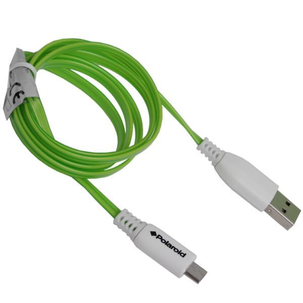 Силиконовый кабель USB - micro USB, с LED подсветкой во время зарядки, 1 метр