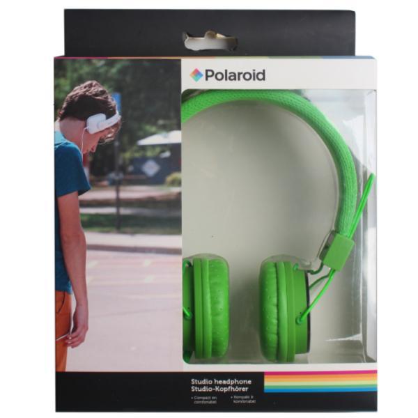 Наушники Polaroid, зеленые