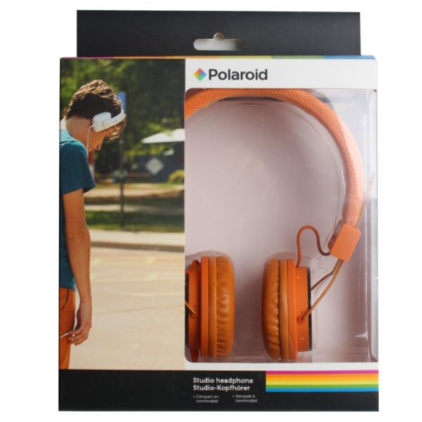 Наушники Polaroid, оранжевые