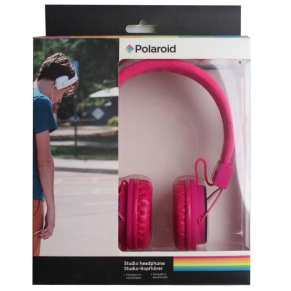 Наушники Polaroid, розовые