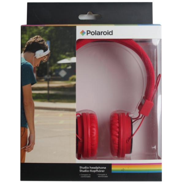 Наушники Polaroid, красные