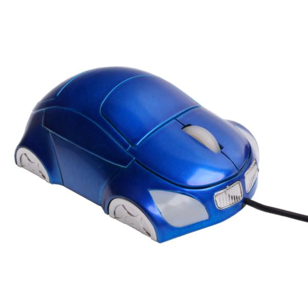Проводная USB - мышь для компьютера, синего цвета