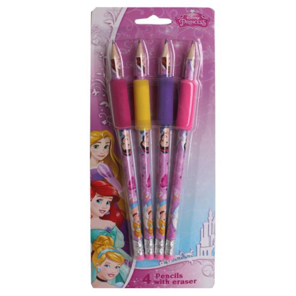 Детский канцелярский набор карандашей с ластиком Disney